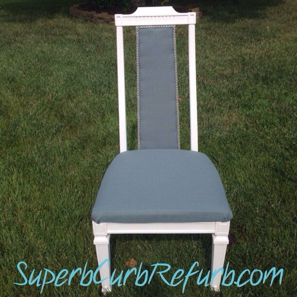 How to fix a cane back chair that is missing the cane | Superb Curb Refurb http://www.SuperbCurbRefurb.com