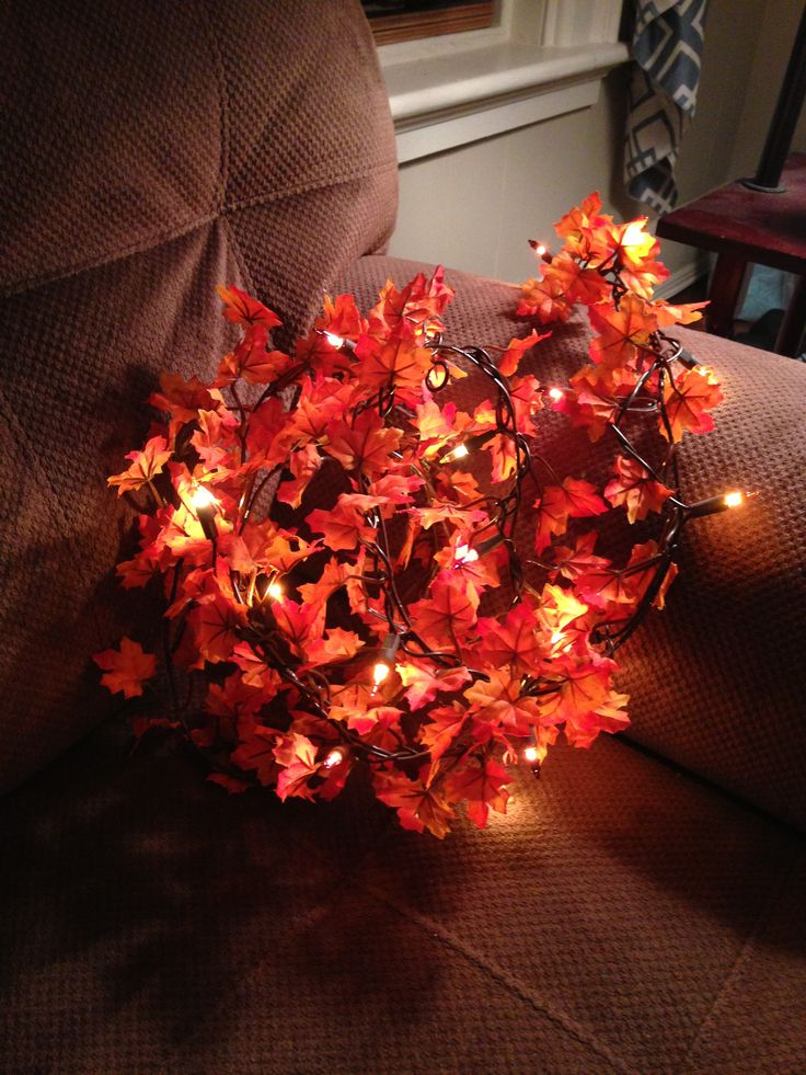 Autumn: a collection of Science and nature ideas to try Pumpkins, String lights and Lighting ideas