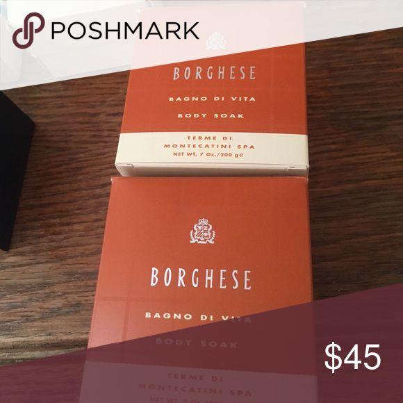 Bundle of two borghese body soaks Borghese bango di vita body soak. Borghese Makeup
