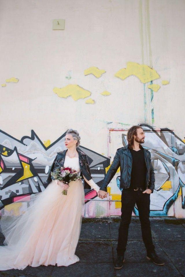 Elizabeth Stuart Rosemary Gown- Rock n Roll Bride 'Glamorous Grunge Inspired Wedding Shoot' #elizabethstuart