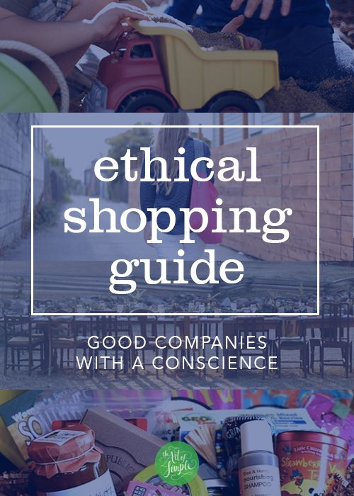 "The Art of Simple - ethical shopping guide ... Note sure how ""ethical"" each company is, but it has some good ones"