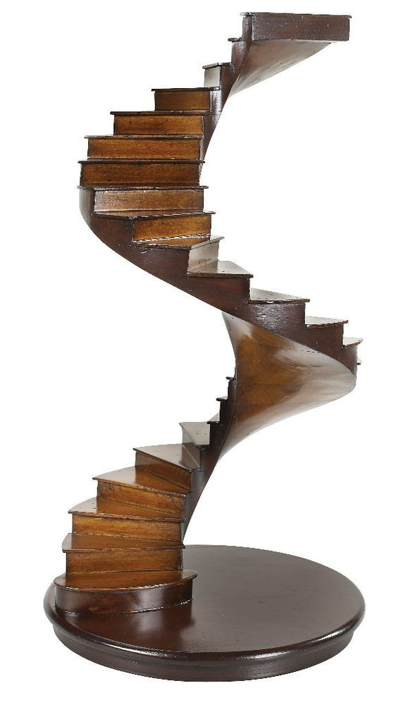 Best Spiral Stairs Architectural 3D Wooden Model 15 Staircase 640 x 480