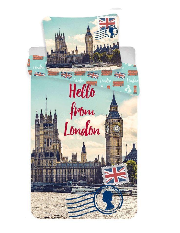 Ložní povlečení Londýn Hello 140/200