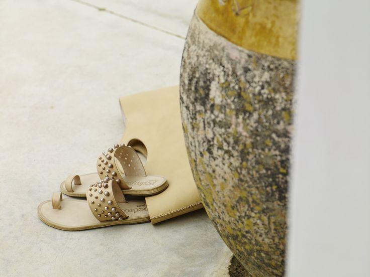 Burgundy Gathered Flat Shoes