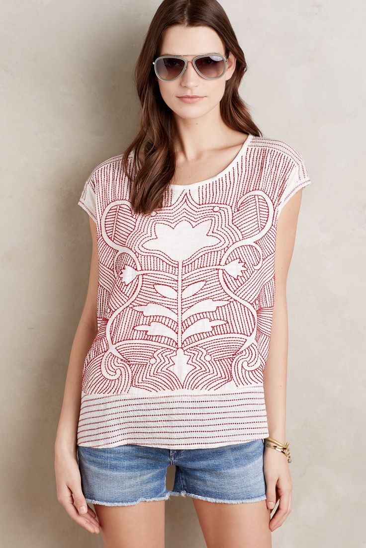 @Anthropologiee Embroidered top