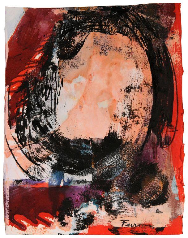Sans titre (p0280) - Marcelle Ferron - Galerie Simon Blais - 5420, boul. St-Laurent, Montréal. Follow the biggest painting board on Pinterest: www.pinterest.com/atelierbeauvoir