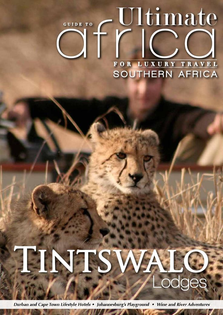Ultimate Guide to Africa January 2014    In this issue:  Tintswalo Safari Lodge Three Cities Riverside Hotel & Spa Obikwa wines Celebrity Chef Recipe Further Reading Accommodation Guide South Africa