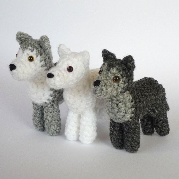 Top 10 animal crochet patterns: wolf by KAti Galusz - download at LoveCrochet!