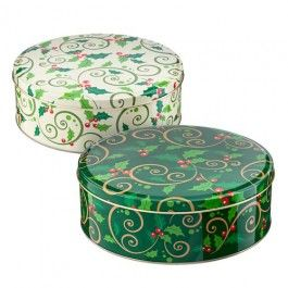 Our festive cake tin is available in 2 designs! Great for all your Christmas baking and delightful treats.