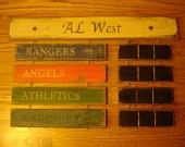 AL West Standings Board