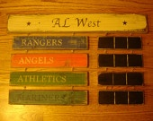 AL West Standings Board