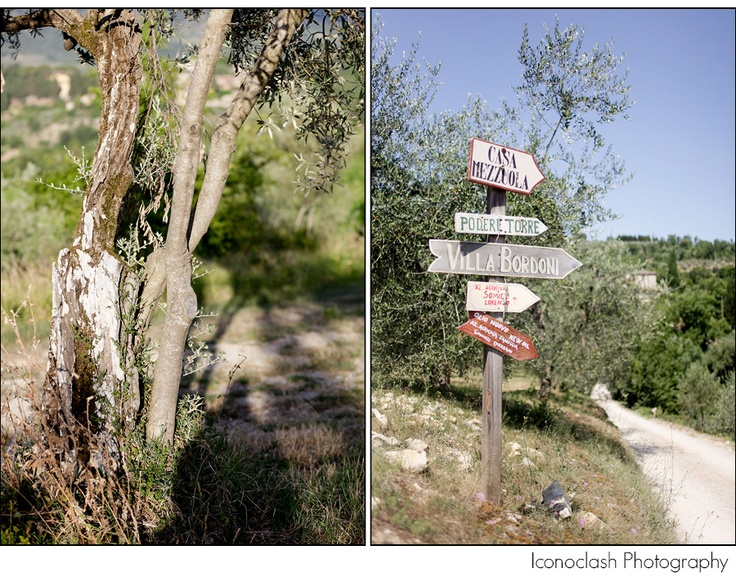Street signs in Chianti
