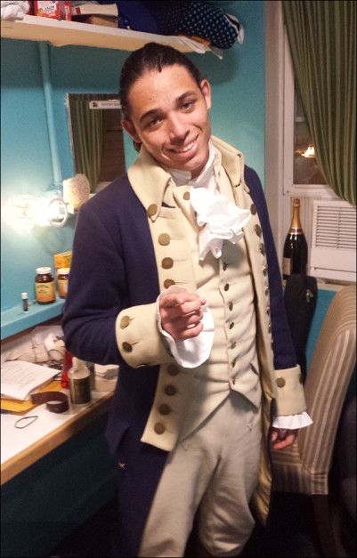 Anthony Ramos, who plays the dual roles of John Laurens and Hamilton's son Philip, invites us to spend a two-show day in the rooms where theatre history is happening every night.