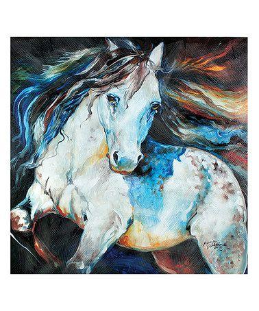 Look at this #zulilyfind! Moonlight Appaloosa Canvas Art #zulilyfinds