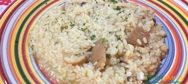 Risotto ai funghi Bimby 3 (60%) 3 votes Risotto ai funghi Bimby, un primo piatto cremoso e gustoso, da fare anche coi funghi congelati secondo ciò che trovate in frigo. Foto e ricetta di Graziana B Risotto ai funghi Bimby Ingredienti 300 gr di riso carnaroli 1 scalogno 20 gr di olio EVO 50 ml …