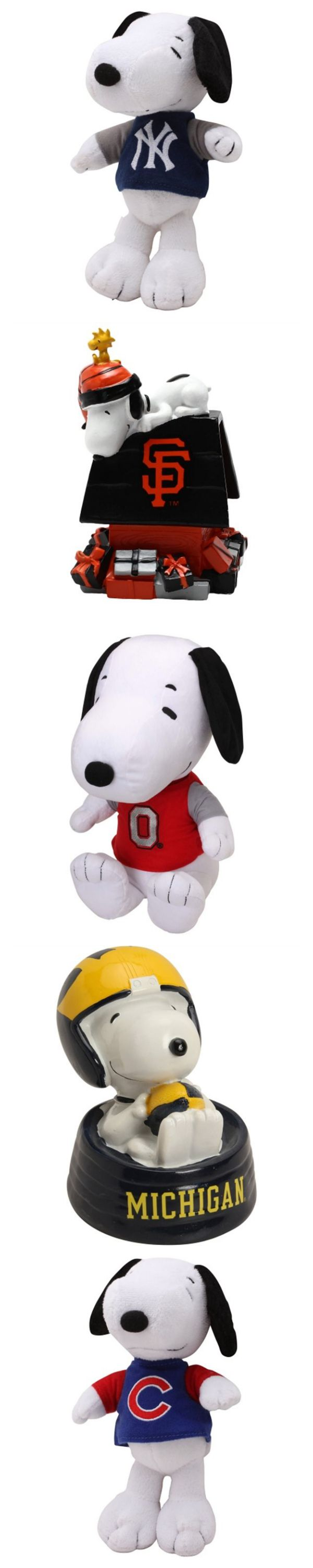 Snoopy and sports fans unite your passions! Find Snoopy gifts for both MLB baseball fans and college sports fans. Snoopy will cheer on your favorite team with plush toys, banks and Christmas ornaments. Start shopping at CollectPeanuts.com and support our site.