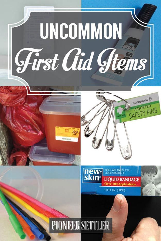 Use these uncommon first aid items in case your handy dandy first aid kit is nowhere in sight. You'll be prepared for any emergency!