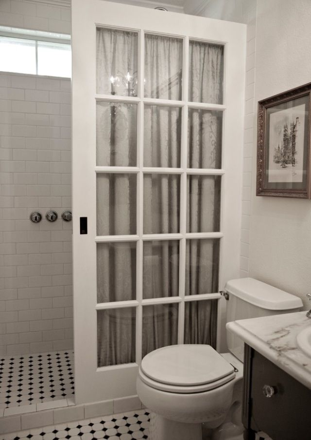 Door for shower curtain ilove this idea for the big house!