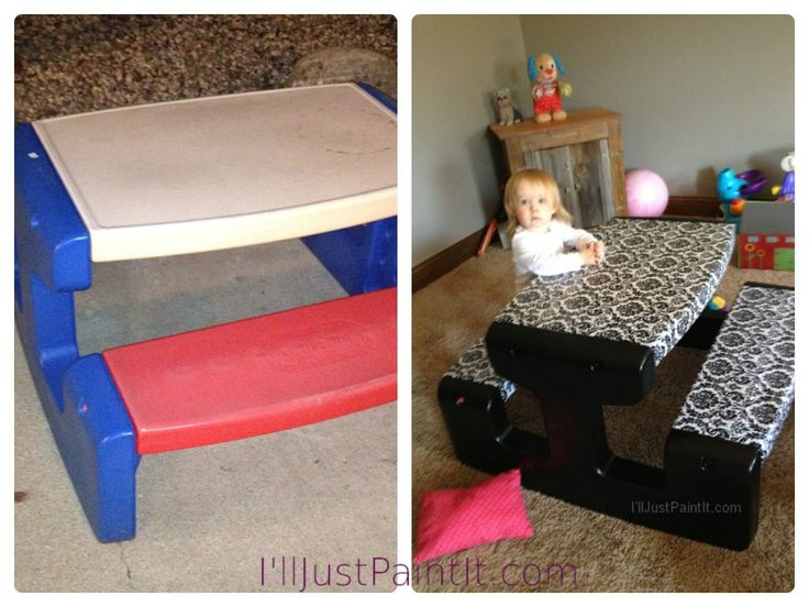 Little Tikes Picnic table make over