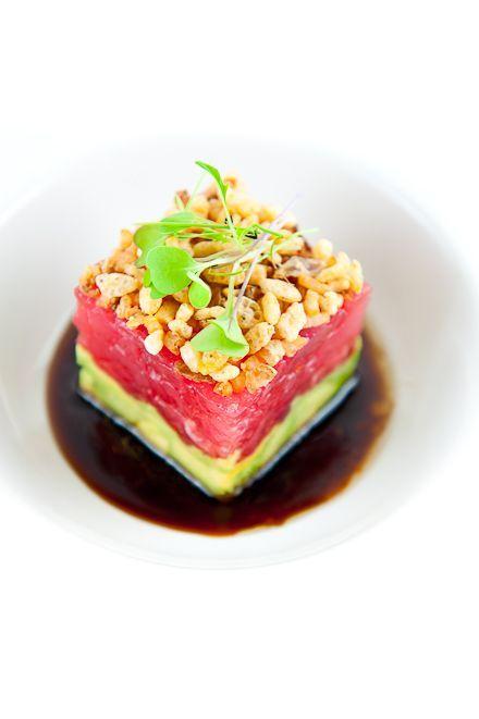 Tuna Tartare w/ Avocado, Crispy Shallots & Soy-Sesame Dressing