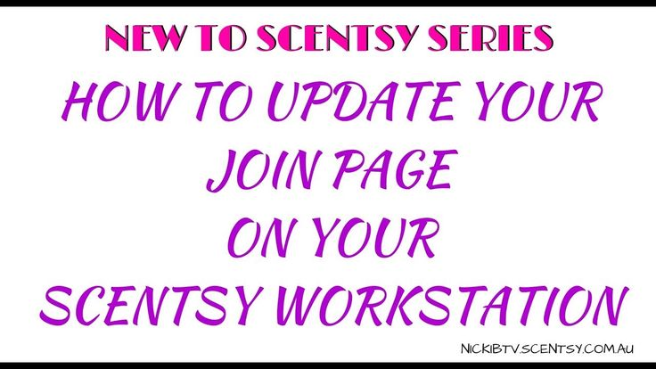 NEW TO SCENTSY SERIES I take you step by step on how to update you Join Page on your Scentsy Workstation so you can show your customers and new potential Team Members your amazing uniqueness.   Be sure to check out the other videos in the New to Scentsy Series  How to upload your profile picture  https://youtu.be/6GM4YJa6Utw  How to Write your Scentsy Story  https://youtu.be/loElApuouo4  Not a consultant but WANT to be? Join me! https://nickibtv.scentsy.com.au/join   Let's be mates on…