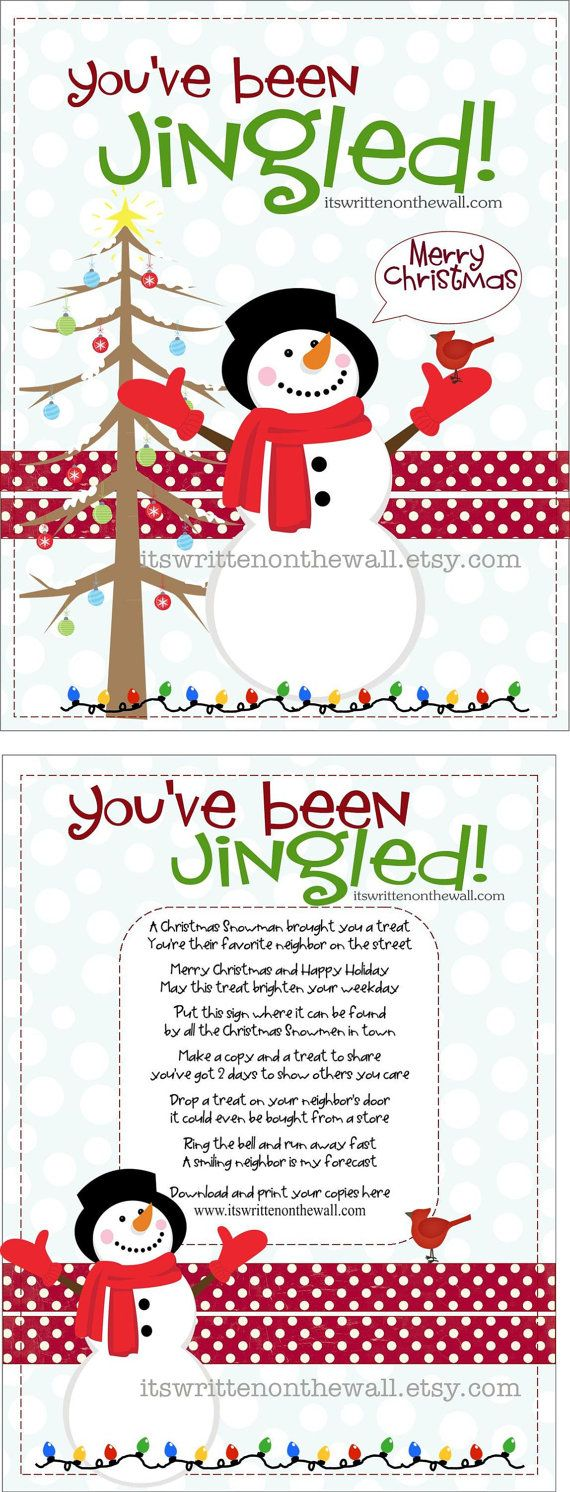 ChristmasYou've Been Jingled Printable and by ItsWrittenOnTheWall