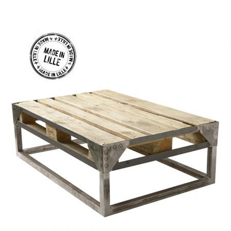 Table basse palette industrielle cargo id e d co for Table basse roulette industrielle