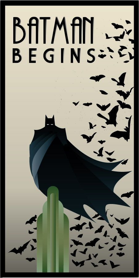 Art Deco 3 - BATMAN BEGINS art deco by rodolforever.deviantart.com on @deviantART