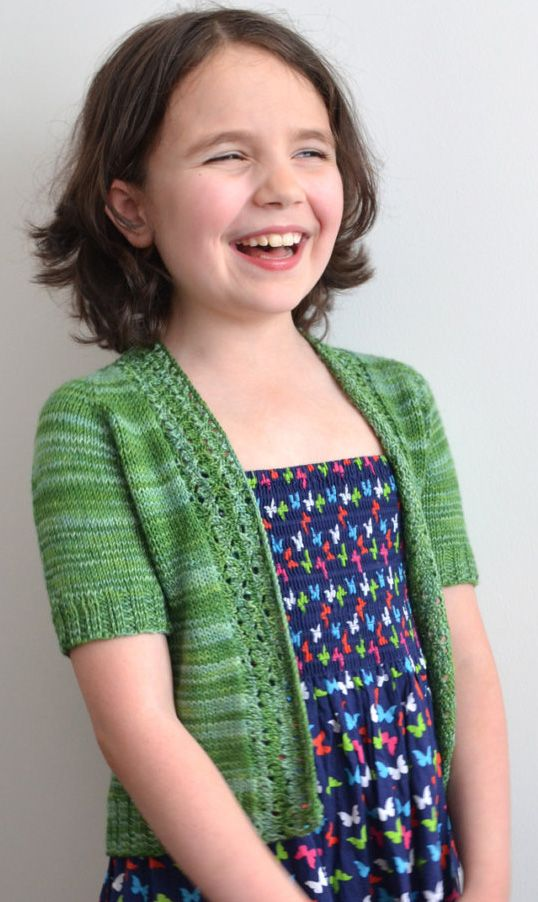 Knitting pattern for School's Out Cardigan - #ad Girl's sweater with lace front band. tba child cardigan