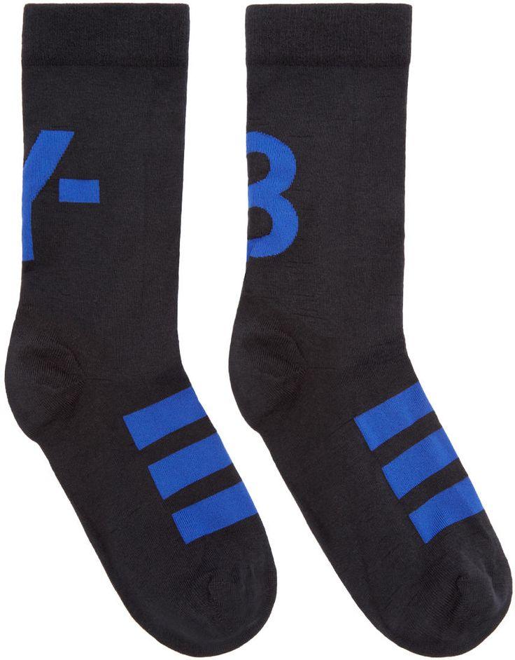 Image of Y-3 Black Logo Ankle Socks