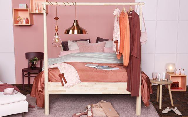Slaapkamer inspiratie. ELLE + IKEA #pink #romantic