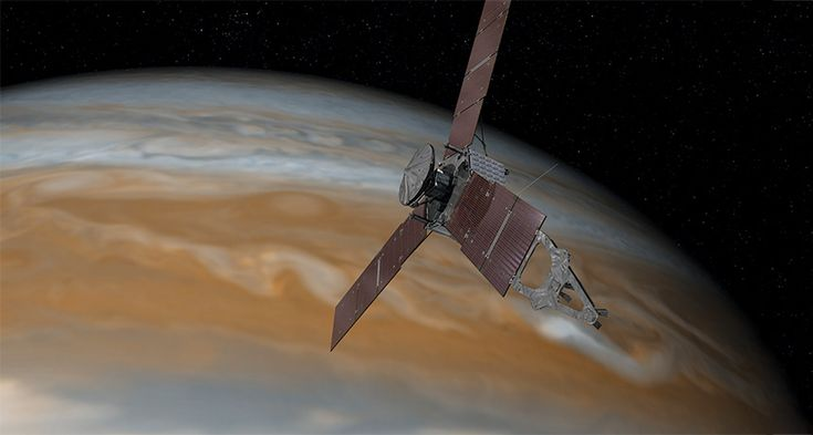 ARE WE THERE YET? After 5 years of travel, Juno will soon reach Jupiter and begin its up close investigations of the giant planet. ~~ NASA/JPL-Caltech