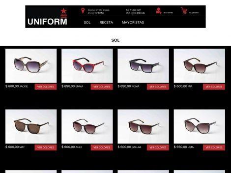 Descubrí la nueva tienda online de gafas UNIFORM