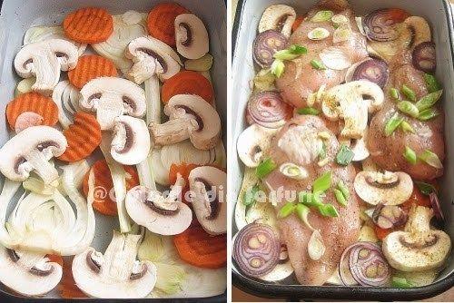 » Piept de pui cu legume la cuptorCulorile din Farfurie