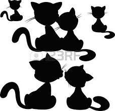 Bildergebnis für cute cat silhouettes