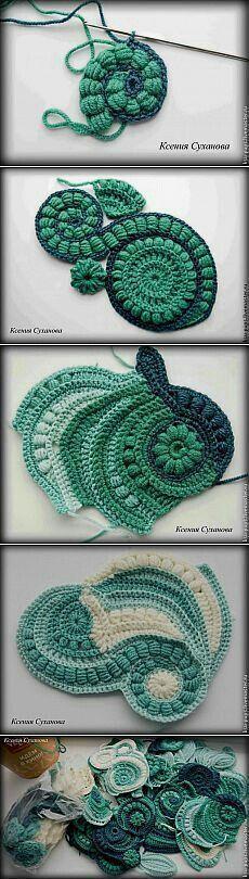 some inspiration for freeform crochet