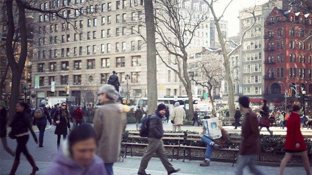 Sutil moviment a una NY congelada