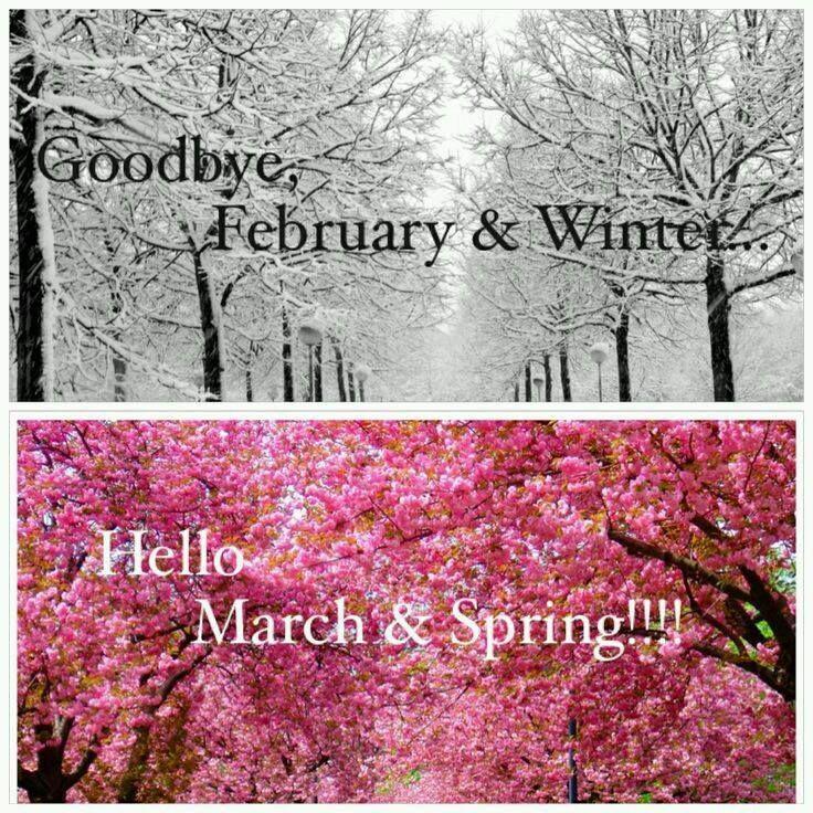 Goodbye January & February Hello March & April