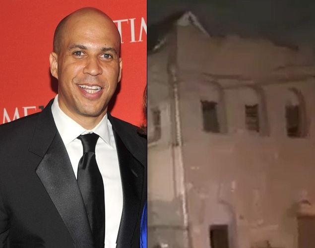 Newark Mayor Cory Booker Rescues Neighbor from Burning Home. What a Badass!