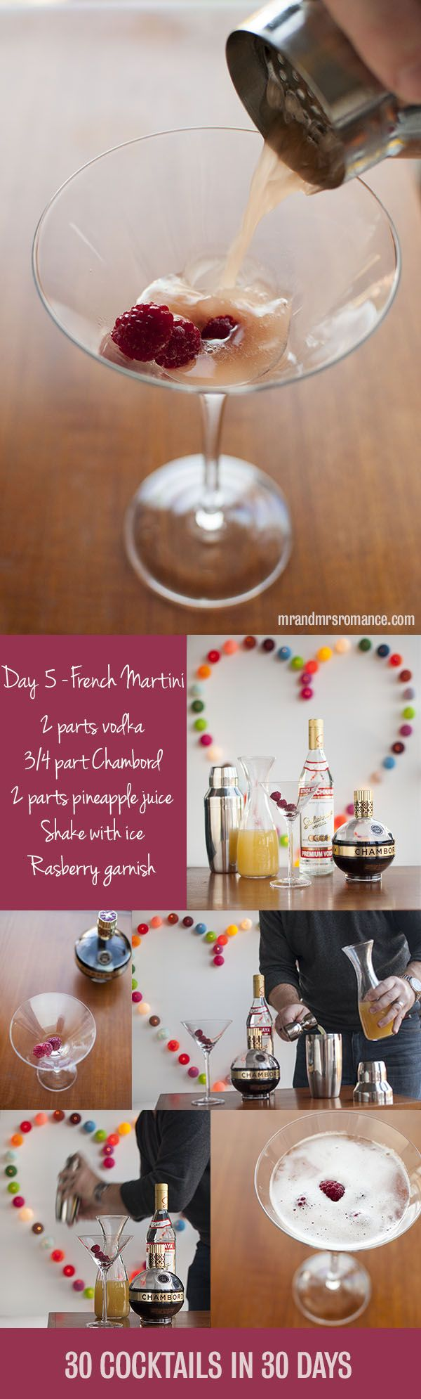 Mr and Mrs Romance - Day 5 - French Martini Cocktail Recipe #girlsguidetoparis #Pariscocktails