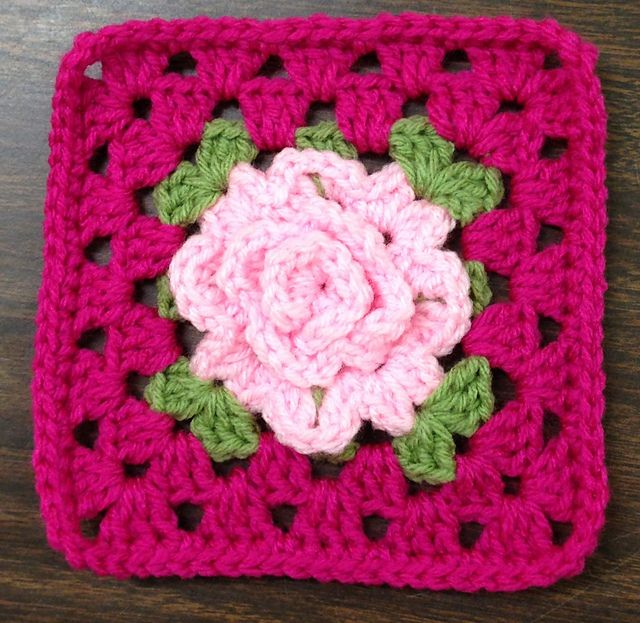 Ravelry: Project Gallery for Granny Rose Square, pt. 2: Rose pattern by Apple Blossom Dreams