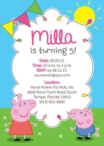 Peppa Pig fiesta invitaciones & decoración por DCStudios en Etsy