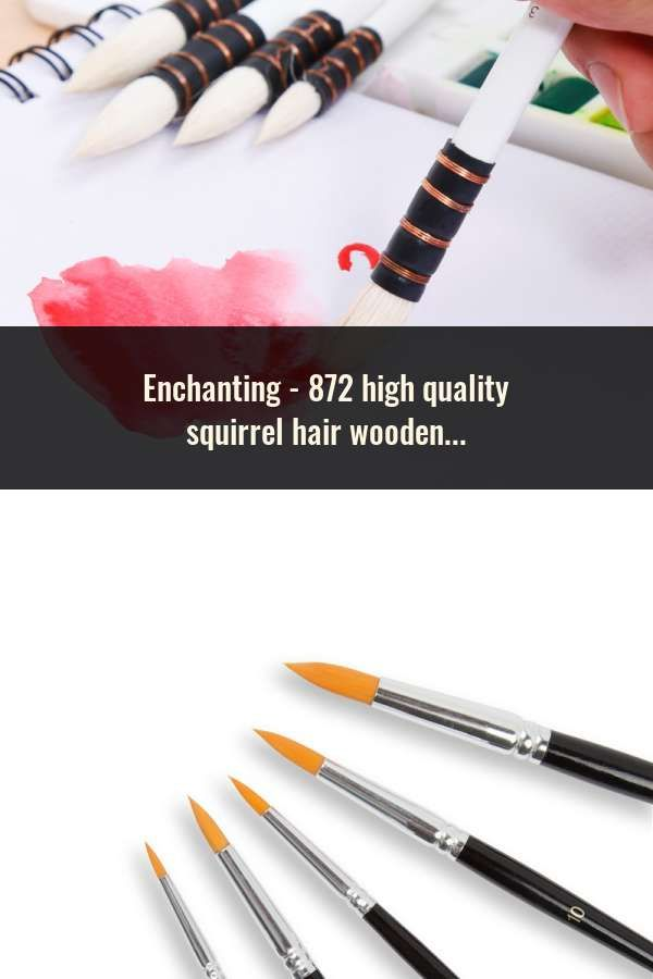 872 High Quality Squirrel Hair Wooden Handle Paint Art Painting