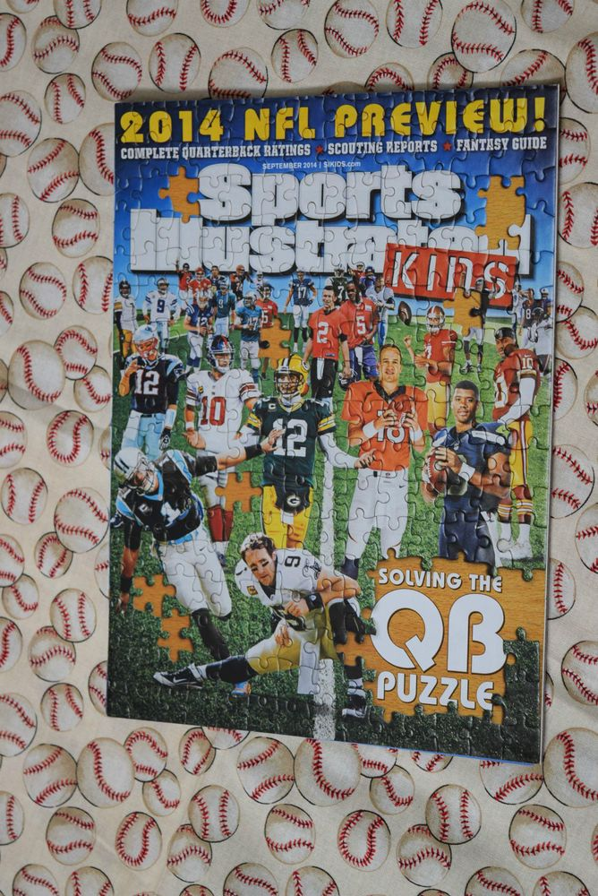 Sports Illustrated Kids w/Cards September 2014 NFL QB's Rodgers Manning Brady