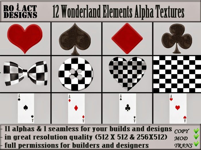 Ro!Act Designs 12 Wonderland Elements Alpha Textures