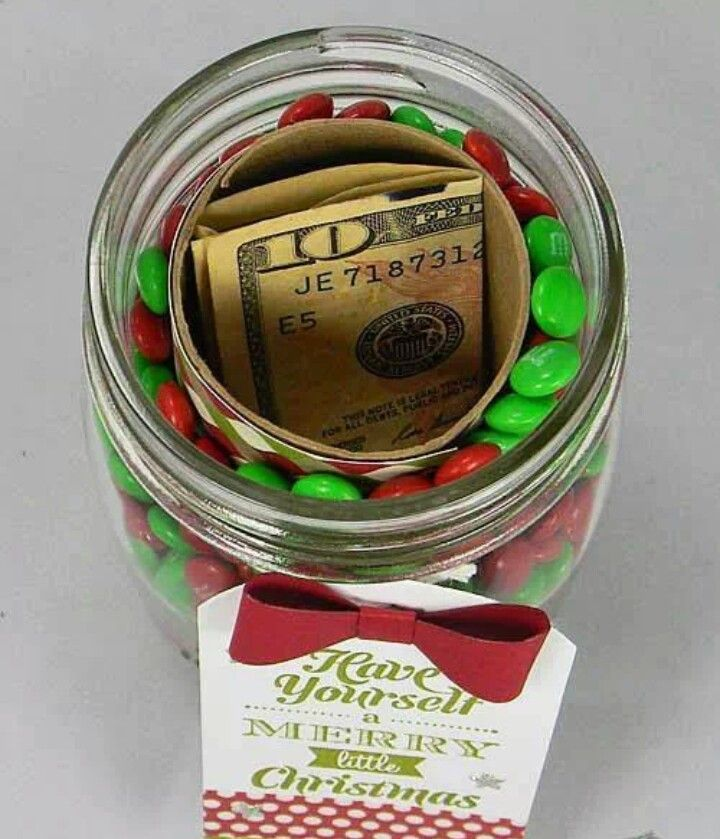 Gift in a jar idea but with a gift card instead of cash