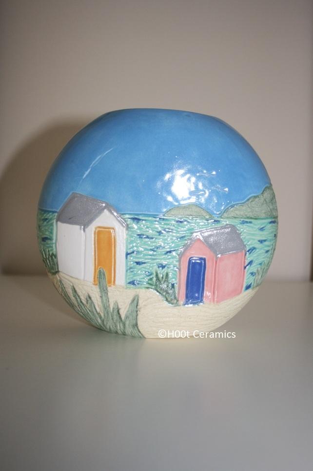 Ceramic 'Beach Hut' Vase