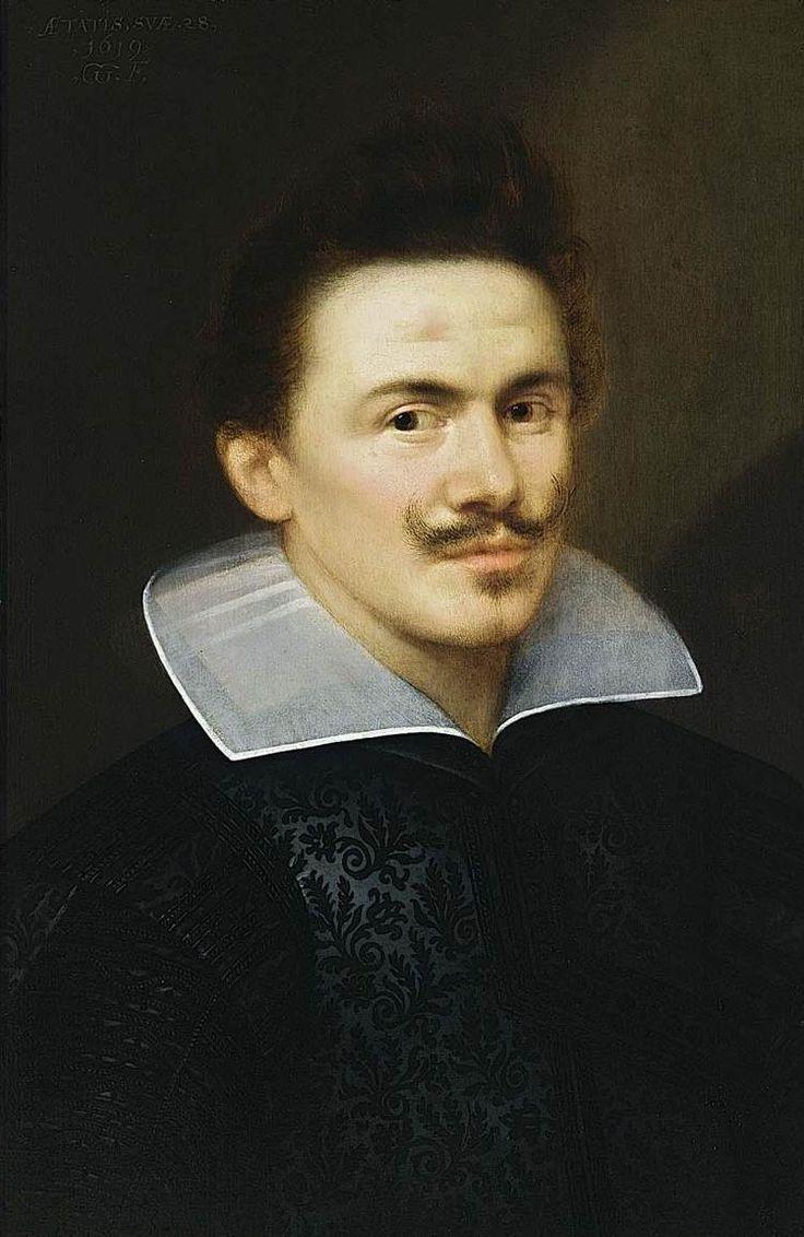 Portrait d'homme, 1619, huile sur panneau, Collection particulière. Gortzius Geldorp (1553–vers 1618) — Web Gallery of Art