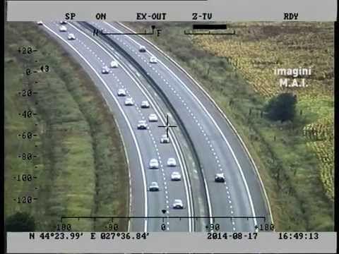 Monitorizare trafic rutier - Autostrada A2 - 17.08.2014 - YouTube