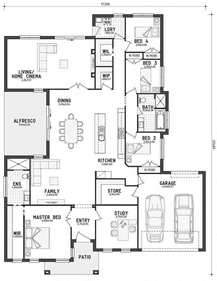 Here's a home today that has lots of storage. This home has a walk in linen (big tick from me), a walk in pantry and a large storage room off the garage (big tick from the husband). This home would be ideal for a lot that isn't quite big enough for a house and shed....